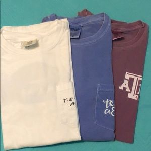Texas A&M comfort color shirts (3-bundled) (used)